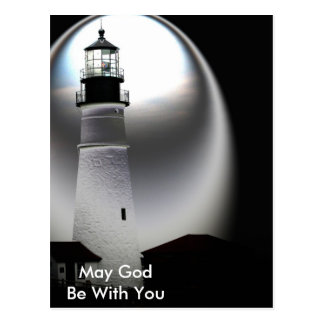 Light House, May God Be with You Postcard