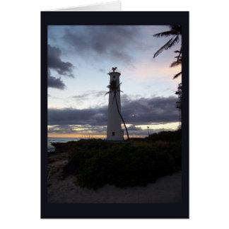 Light House on Point Card
