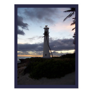 Light House on Point Postcard