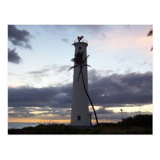 Light House on Point Postcard