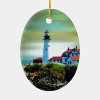 Light House Portland Headlight Ceramic Ornament