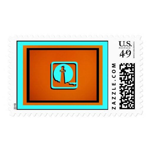 Light House Postage Stamp