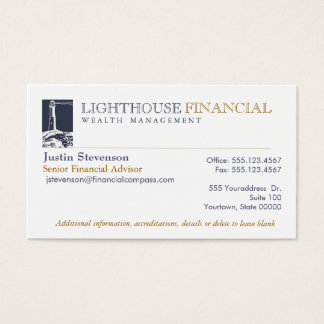 Light House Professional Business Card
