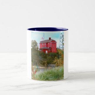 Light House Two-Tone Coffee Mug