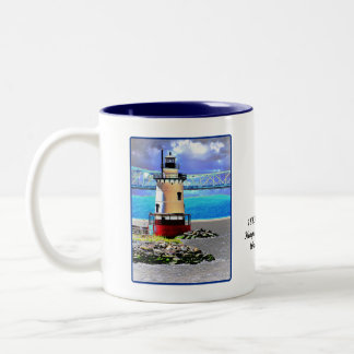 Light house, Westchester, NY Two-Tone Coffee Mug