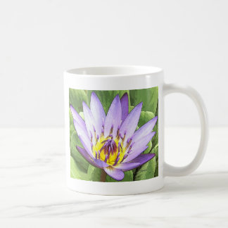 Light in the heart of the lotus classic white coffee mug
