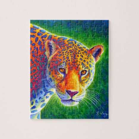 Light in the Rainforest Colorful Jaguar Puzzle