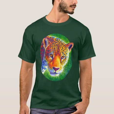 Light in the Rainforest Colorful Jaguar T-Shirt
