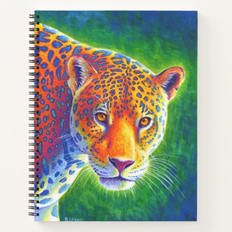 Light in the Rainforest Jaguar Spiral Notebook