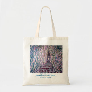 Light in the tunnel tote bags