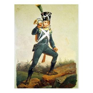 Light Infantry Ensign, 1811 Postcard