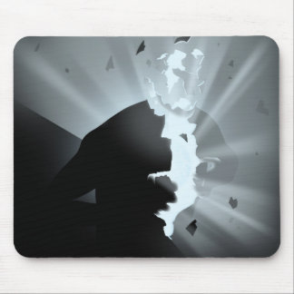 Light inside darkness mouse pad