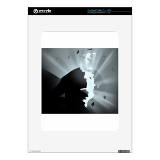 Light inside darkness skin for iPad