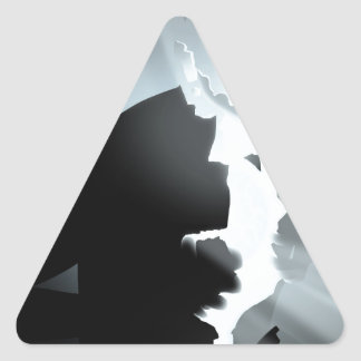 Light inside darkness triangle sticker