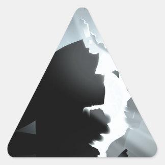 Light inside darkness triangle sticker