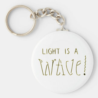 Light is a Wave Particle Ambigram Keychain