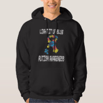 Light It Up Blue Autism Awareness Hoodie