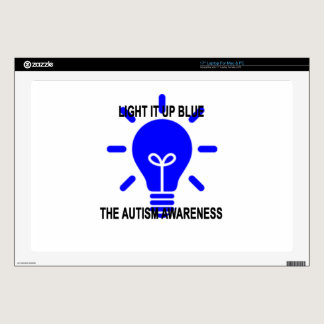 """LIGHT IT UP BLUE THE AUTISM AWARENESS.png Skins For 17"""" Laptops"""