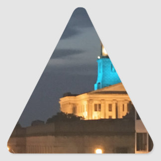 Light It Up Blue Triangle Sticker