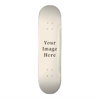 Light Ivory Tan Taupe Color Trend Blank Template Skateboard