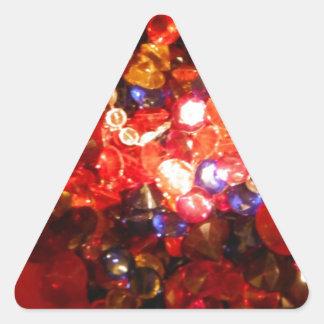 Light Jewels Colors Fun Triangle Sticker