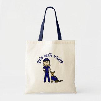 Light K9 Police Girl Canvas Bag