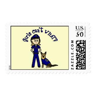 Light K9 Police Girl Postage