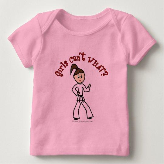 Light Karate Girl Baby T-Shirt