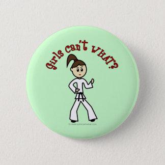 Light Karate Girl Button
