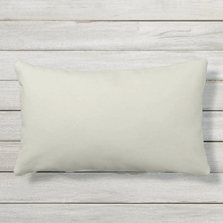 Light Khaki Beige Outdoor Lumbar Throw Pillow