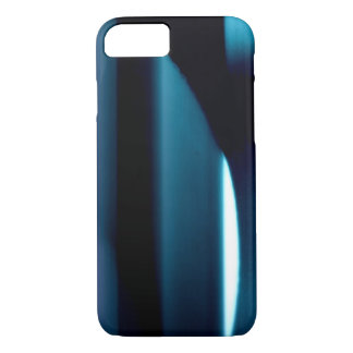 Light l Modern Black-Blue-White Abstract iPhone 7 Case