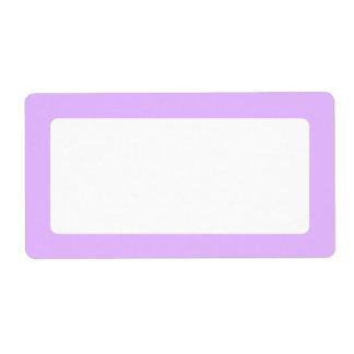 Light lavender purple solid color border blank custom shipping labels