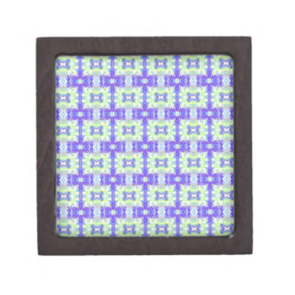 Light Lavender Teal Pastel Connections Pattern Keepsake Box