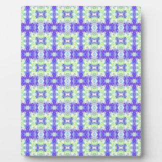 Light Lavender Teal Pastel Connections Pattern Plaque