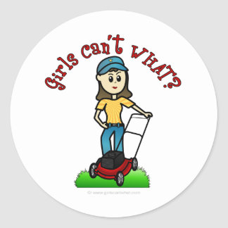 Light Lawn Care Girl Stickers