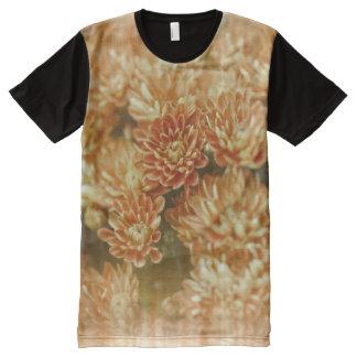 Light Leak Orange Chrysanthemums All-Over Print T-shirt
