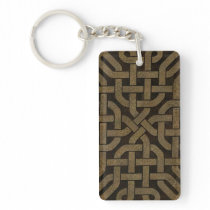 Light Leather Celtic Knot Keychain