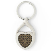Light Leather Look Celtic Knot Keychain
