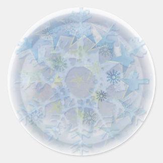 Light Let It Snow Classic Round Sticker