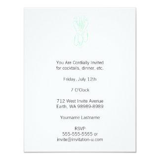 Light Letterpress Style Squid Card
