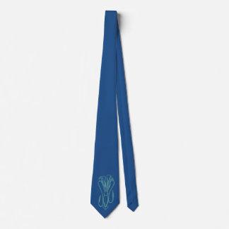 Light Letterpress Style Squid Neck Tie