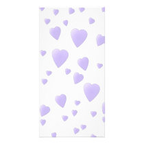 Light Lilac and White Love Hearts Pattern. Card