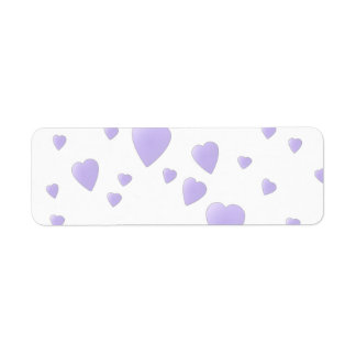 Light Lilac and White Love Hearts Pattern. Return Address Labels