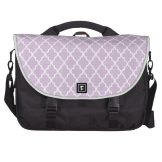 Light Lilac And White Moroccan Trellis Pattern Commuter Bags