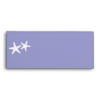 Light Lilac Envelope with Starfish