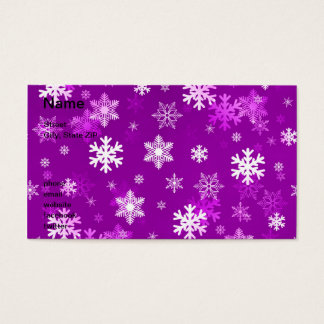 Light Lilac Snowflakes Business Card