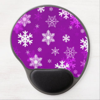 Light Lilac Snowflakes Gel Mouse Pad