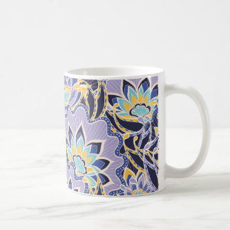 Light Lilac Spiky Flowers Coffee Mug