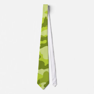 Light, Lime Green Camo, Camouflage Neck Tie