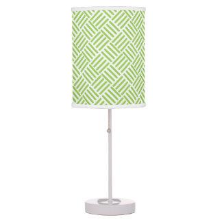 Light Lime Green Crosshatch Pattern Table Lamp